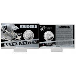 Las Vegas Raiders 2020 Team History Coin Card