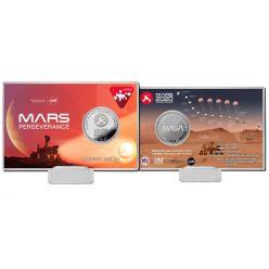 Mars Perseverance Landing Silver Coin Card