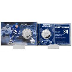 Auston Matthews Silver Coin Card