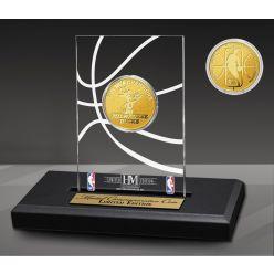 Milwaukee Bucks 1-Time Gold Coin Acrylic Desk Top