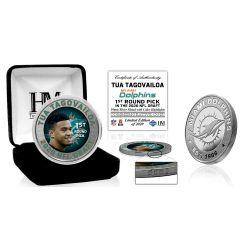Miami Dolphins 2020 NFL Draft Tua Tagovailoa 1st Round Silver Coin-1