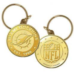 Miami Dolphins Bronze Keychain
