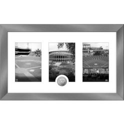 New York Mets Panoramic Art Deco Silver Coin Photo Mint