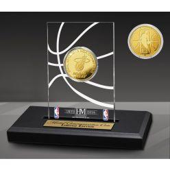 Miami Heat 3-Time Gold Coin Acrylic Desk Top