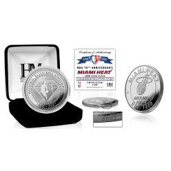 Miami Heat NBA 75th Anniversary Silver Mint Coin