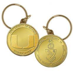 University of Miami Bronze Coin Keychain