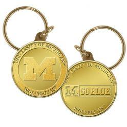 University of Michigan Bronze Coin Keychain