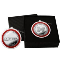 University of Michigan Silver Coin Ornament