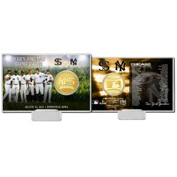 New York Yankees vs Chicago White Sox MLB Field of Dreams 2021 Bronze Coin Card