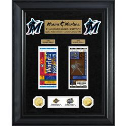 Miami Marlins World Series Deluxe Gold Coin & Ticket Collection