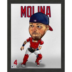 Yadier Molina St. Louis Cardinals Framed Dynamo