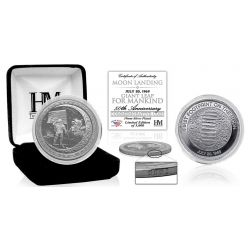 "Moon Landing ""Giant Leap for Mankind"" Silver Mint Coin"