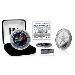 Micah Parsons Dallas Cowboys 2021 NFL Draft 1st Round Pick Silver Mint Coin