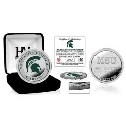Michigan State University Color Silver Coin