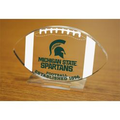 Michigan State University Etched Football Acrylic
