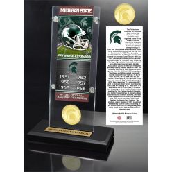 Michigan State University Ticket & Bronze Coin Acrylic Desk Top