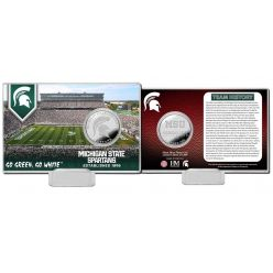 Michigan State University Team History Silver Coin Card