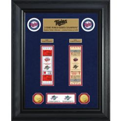 Minnesota Twins World Series Deluxe Gold Coin & Ticket Collection