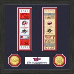 Minnesota Twins World Series Ticket Collection