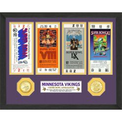 Minnesota Vikings Super Bowl Appearances Ticket Collection