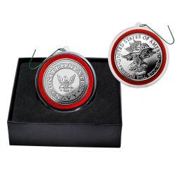 United States Navy Silver Mint Coin Ornament