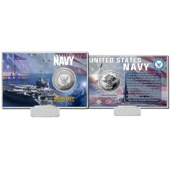 United States Navy Silver Coin Card