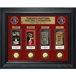Toronto Raptors 2019 NBA Finals Champions Deluxe Gold Coin & Ticket Collection