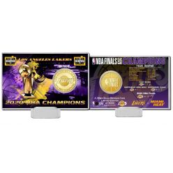 2020 NBA Finals Champions  Los Angeles Lakers Bronze Coin Card
