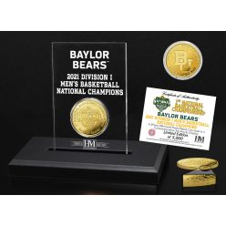 Baylor 2021 NCAA Men's Basketball Champions Gold Coin & Acrylic Display