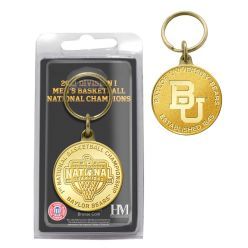 Baylor 2021 NCAA Men's Basketball Champions Bronze Coin Key Chain