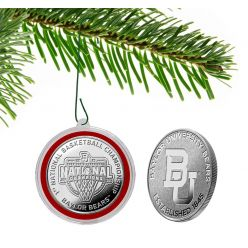 Baylor 2021 NCAA Men's Basketball Champions Silver Coin Ornament