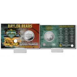 Baylor 2021 NCAA Men's Basketball Champions Silver Coin Card