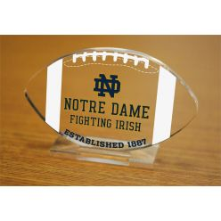University of Notre Dame Etched Football Acrylic