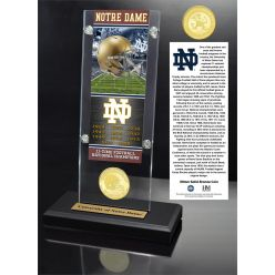 University of Notre Dame Ticket & Bronze Coin Acrylic Desk Top