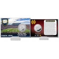 University of Notre Dame Team History Silver Coin Card