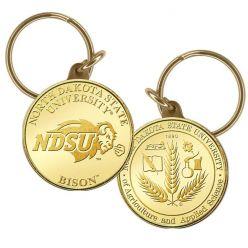 North Dakota State University Bronze Coin Keychain