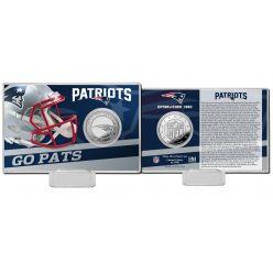 New England Patriots 2020 Team History Coin Card