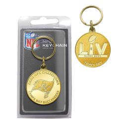 Tampa Bay Buccaneers 2020 NFC Champions Bronze Mint Coin Keychain