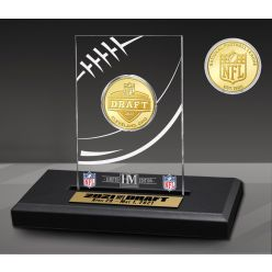 NFL Draft 2021 Bronze Coin Acrylic Desk Top