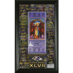 AFC Champions Super Bowl XLVII Signature Framed Ticket