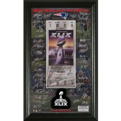New England Patriots Super Bowl XLIX Champions Signature Ticket