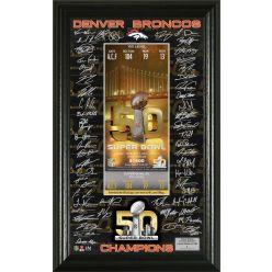 Denver Broncos Super Bowl 50 Champions Signature Ticket