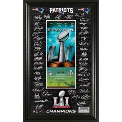 New England Patriots Super Bowl 51 Champions Signature Ticket