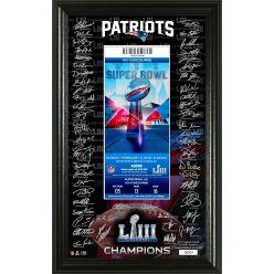 New England Patriots Super Bowl 53 Champions Signature Ticket