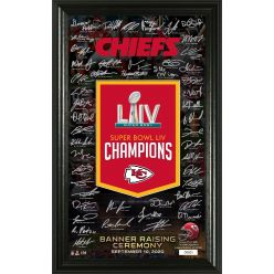 "Kansas City Chiefs Super Bowl 54 Champions ""Banner Raising"" Signature Photo"