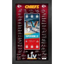 Kansas City Chiefs Super Bowl 55 Signature Ticket Frame