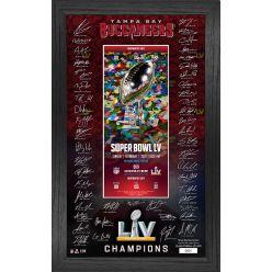Tampa Bay Buccaneers Super Bowl 55 Champs Signature Ticket