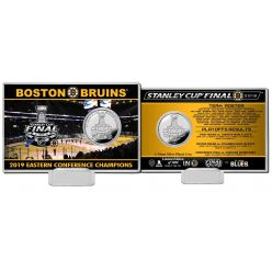 Boston Bruins 2019 Stanley Cup Final Silver Coin Card