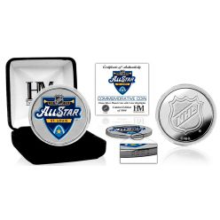 2020 NHL All Star Game Color Silver Coin
