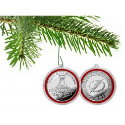 Tampa Bay Lightning 2020 Stanley Cup Champions Silver Mint Coin Ornament